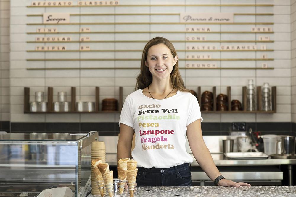 An employee at New York City's Caffè Panna (Photo Credit: Eater NY)