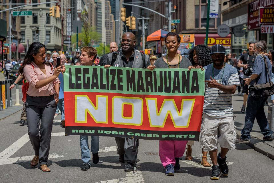 Pro-marijuana protesters in New York City (Photo Credit: Forbes)