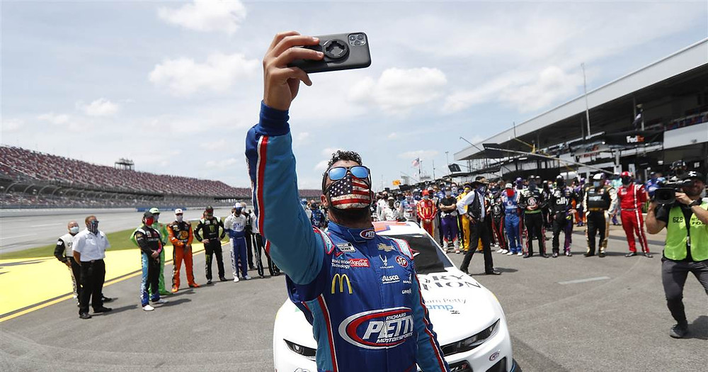 Bubba Wallace, the only full-time Black NASCAR driver (Photo Credit: NBC)