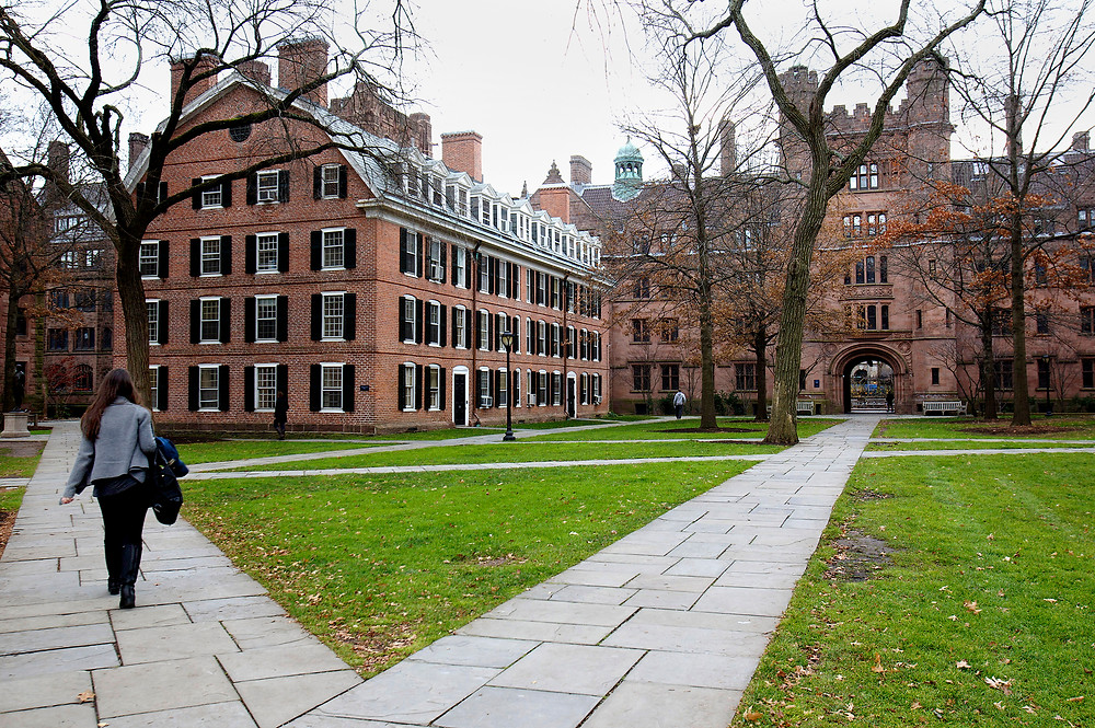 A student on Yale University's campus (Photo Credit: NBC News)
