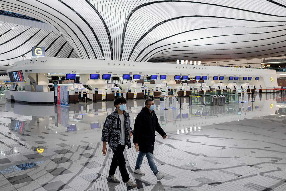 A rather empty Taiwan Airport (Photo Credit: Independent)
