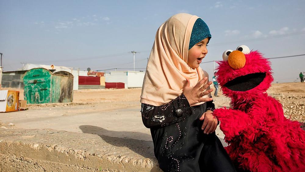 Sesame Street is helping refugee children (Photo Credit: CNN)