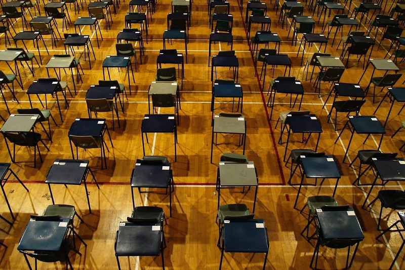 A typical standardized testing setup (Photo Credit: Wayland Student Press)