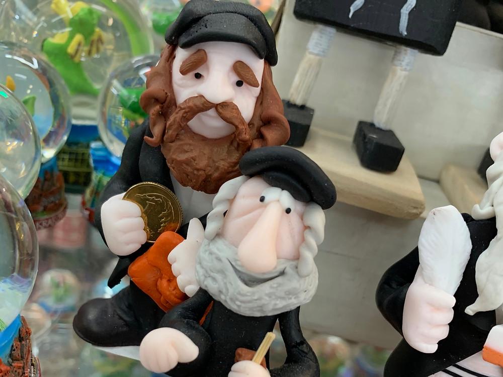 Anti-Semitic figurines in a store in Kraków, Poland (Photo Credit: Marc Rubin '21)