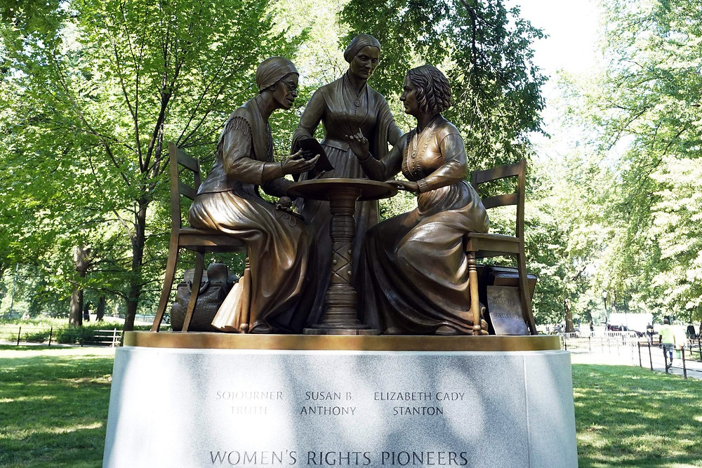 Central Park's newest statue, Women's Rights Pioneers (Photo Credit: People)