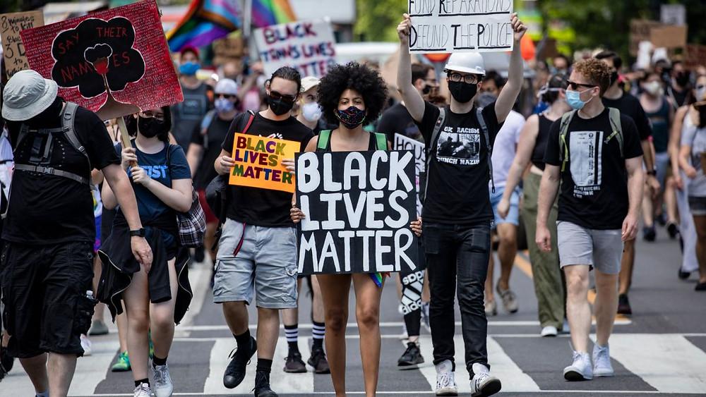 A Black Lives Matter protest (Photo Credit: CNN)