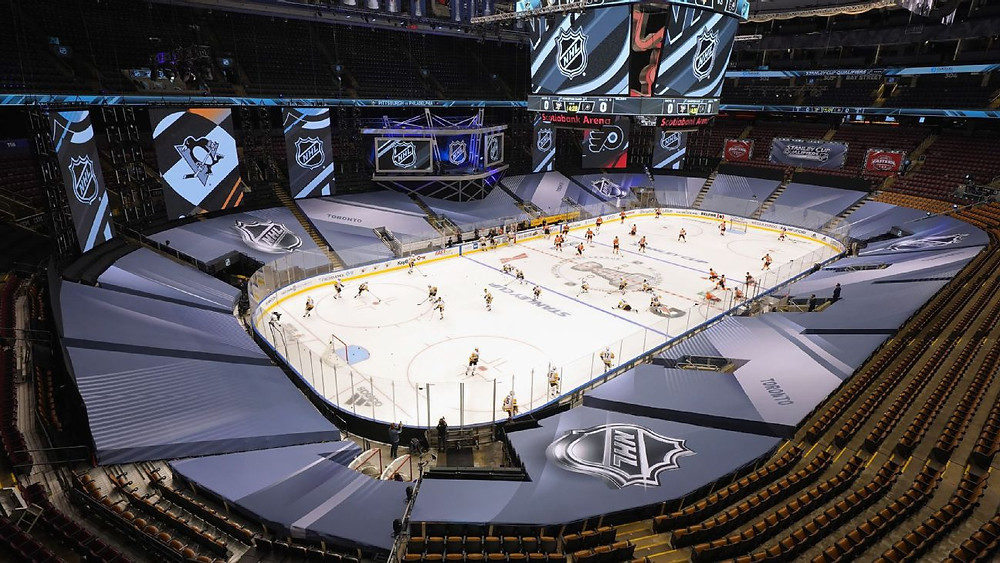 Major sports leagues like the NHL have resumed, but difficulties persist (Photo Credit: ESPN)