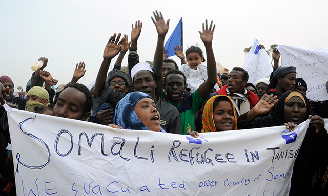 Somali refugees in Tunisia (Photo Credit: Pew Research Center)