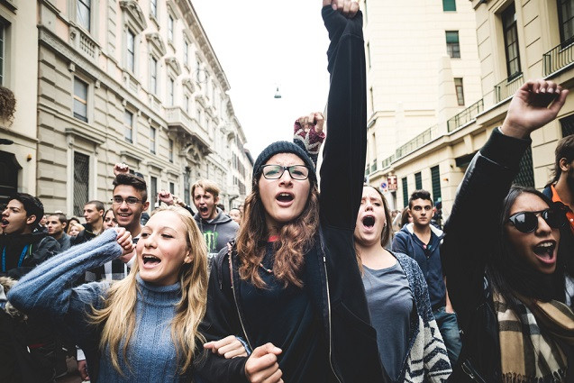 A youth-led protest (Photo Credit: Truthout)