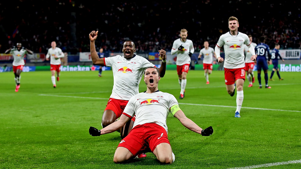 RB Leipzig's Marcel Sabitzer in the Champions League (Photo Credit: Bundesliga)