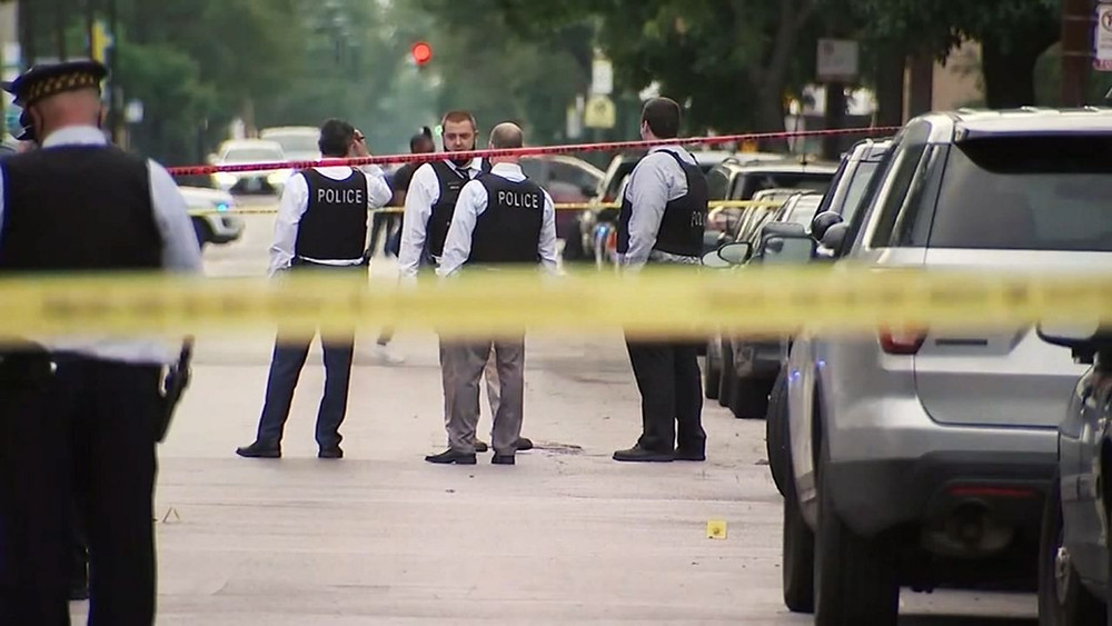 Police at the scene of a shooting in New York (Photo Credit: NY1)