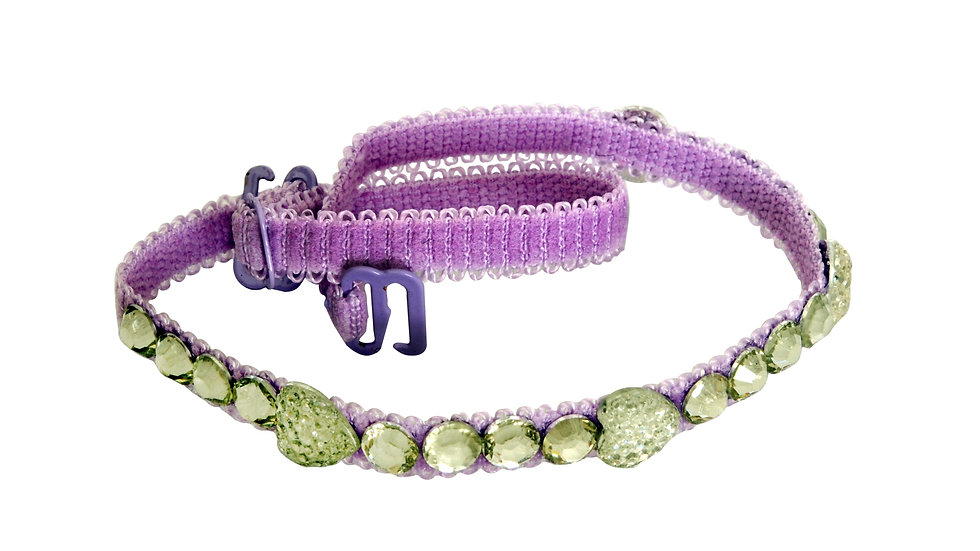 Purple Strap with Diamond and Heart Shaped Stones