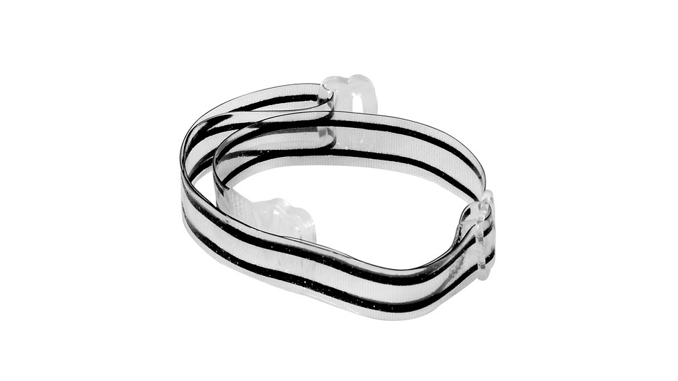 Clear Bra Straps - Black Stripes