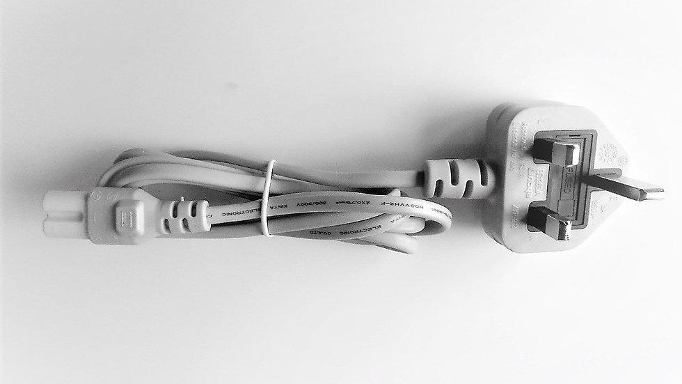 Power Cord 1.5 m, Grey With U.K. Plug For babyBelle® Bodybuffer