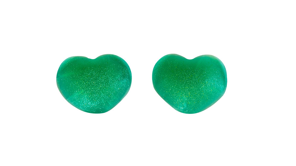 Green Heart Silicone Nipple Covers