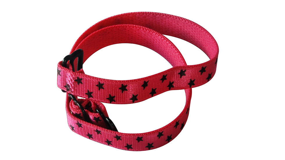 Red/Magenta Strap With Black Stars