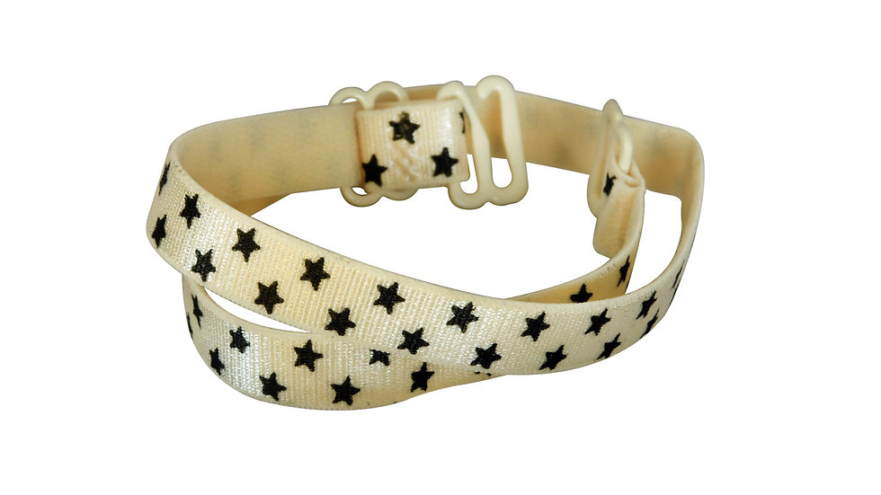 Tan Strap With Black Stars