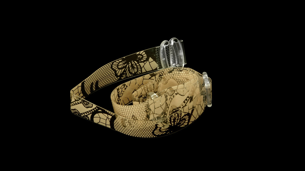 Clear Bra Straps - Snake Skin Print