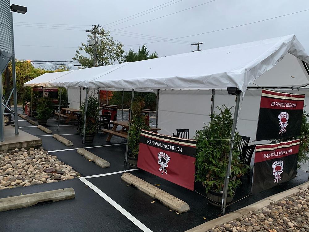 Brewery, restaurant, beer, food, Happy Valley, outdoor seating