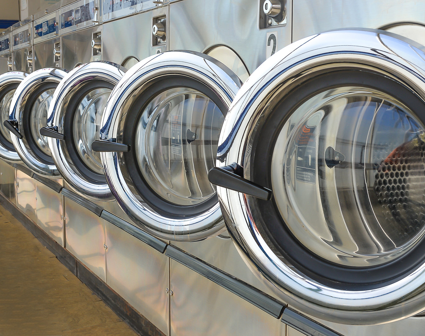stock-photo-row-of-industrial-laundry-ma