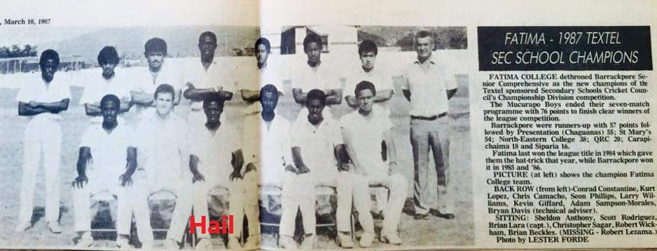 Fatima 1987 sec school champions waterma
