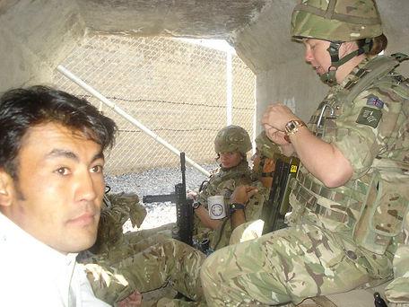 takeing refuge in a bomb shelter, Lashka