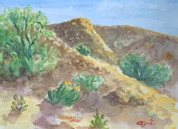 Watercolor Desert Morning