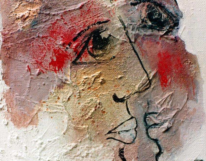 Le Baiser, 1992, sur toile