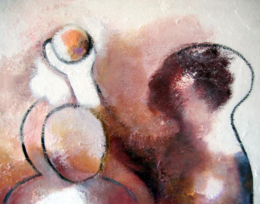 Sapiens, 2003, détail, sur bois