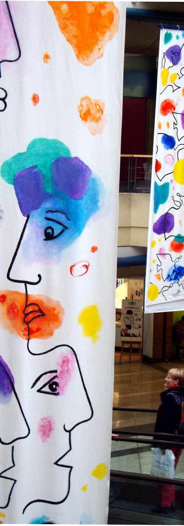 Bannières, 2011, toile 5mx1m