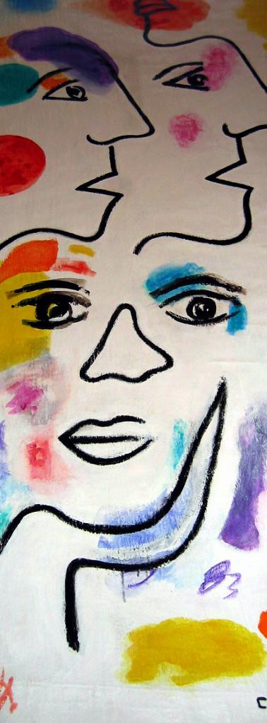 """""""Générations"""", 2011, toile 5mx1m, Tréguier (atelier Bomy)"""