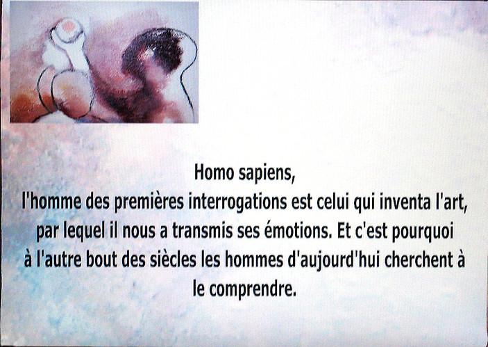 Diaporama sur écran d'Homo Sapiens