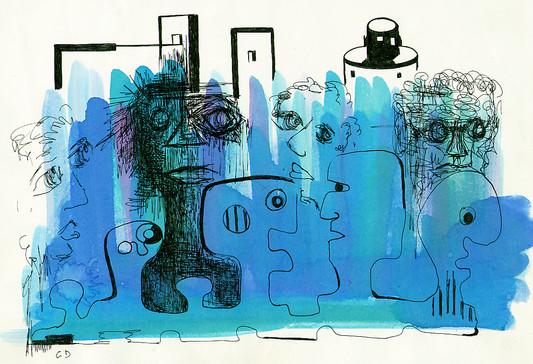 Mutation, dessin original, 1982