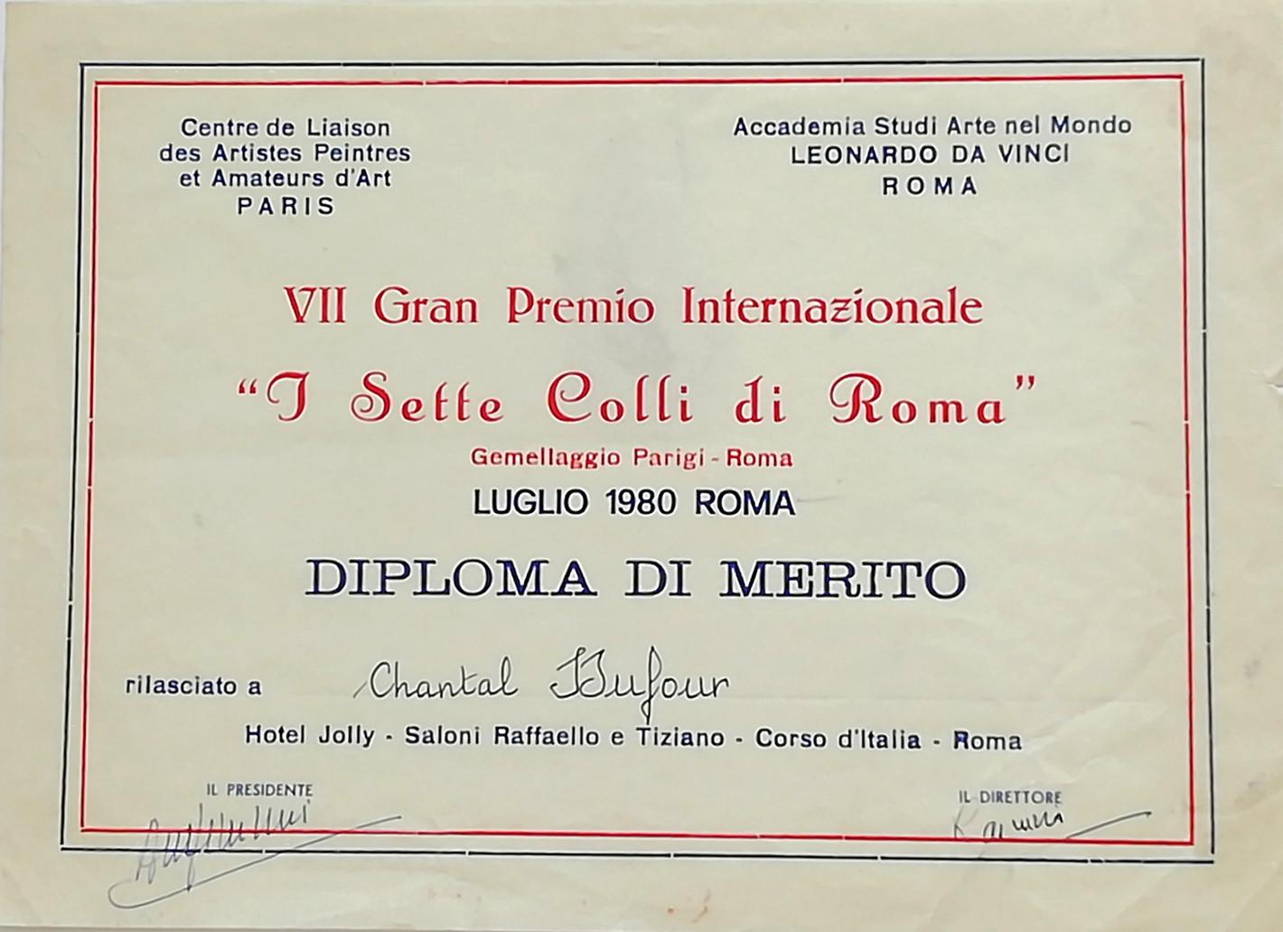 1980, diplôme à Rome