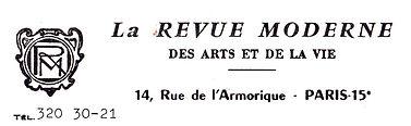 1967, courrier de la Revue Moderne