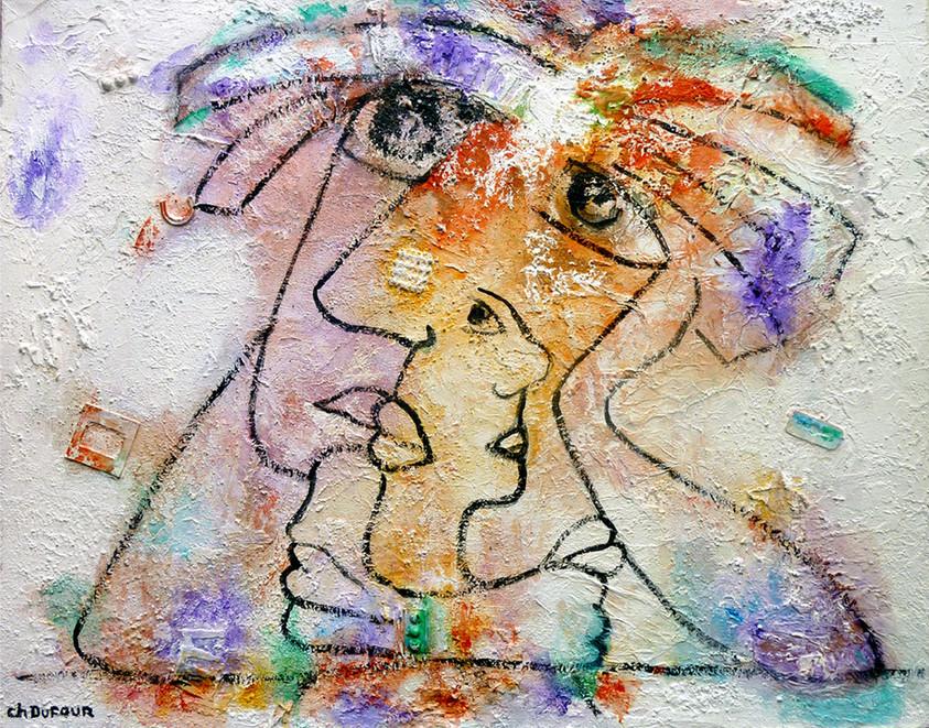 Le rêveur, 2010, sur toile