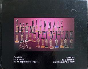 Catalogue de la 1ere Biennale Jeune Peinture à Cannes en 1989 pour laquelle je suis selectionnée