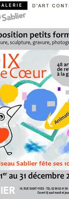 2018, expo4 Dix de coeur. Affiche de Chantal Dufour