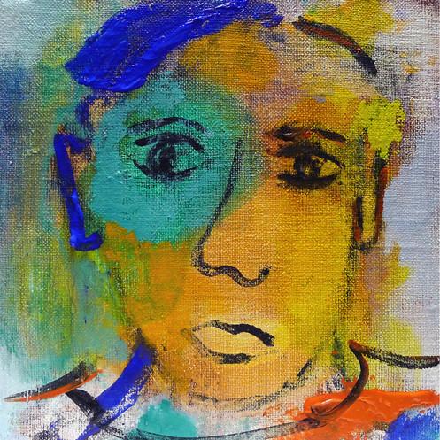 """""""Paul à la mèche bleue"""", 2018"""