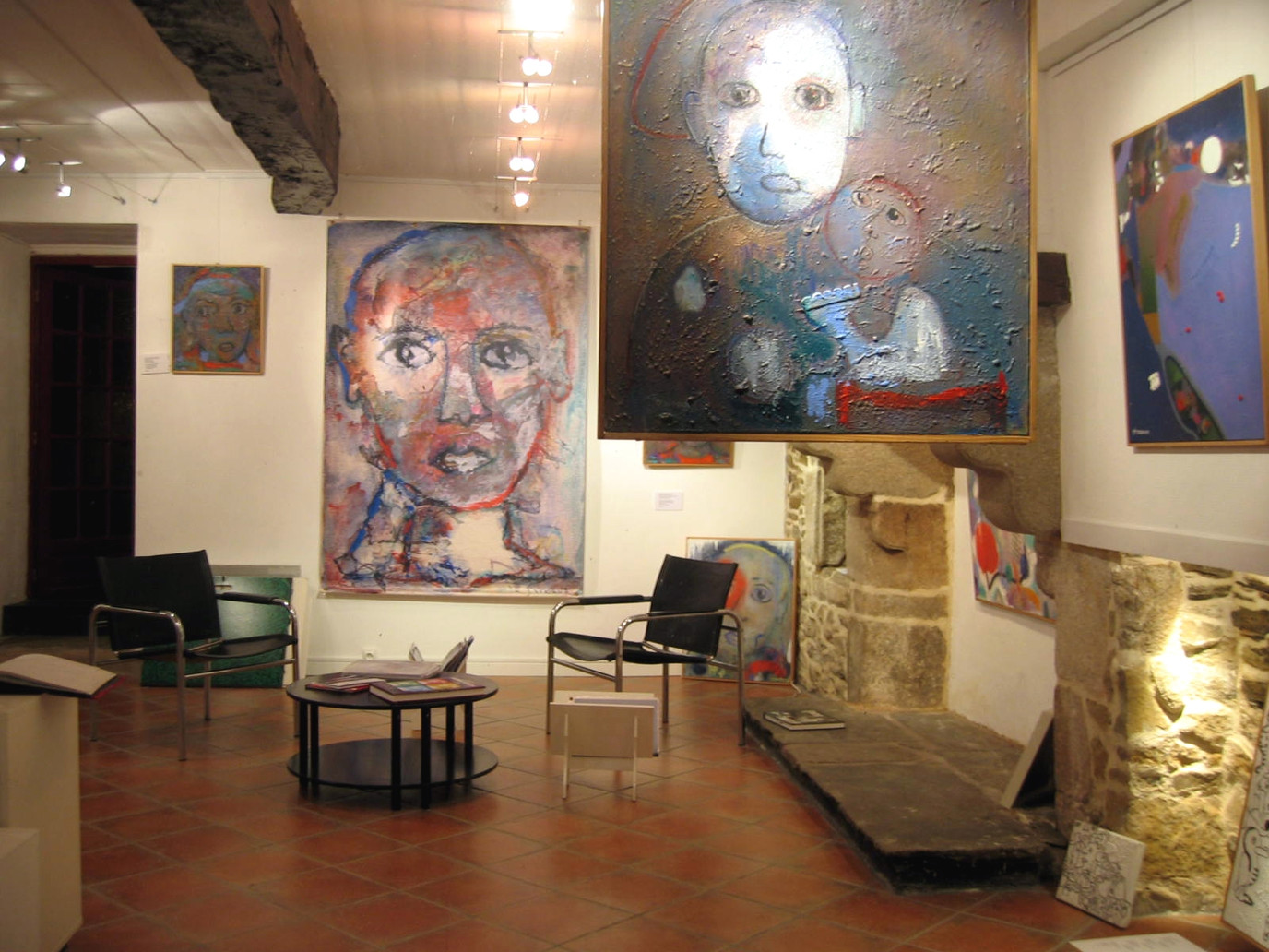 2009, expo à la galerie l'Oiseau Sablier