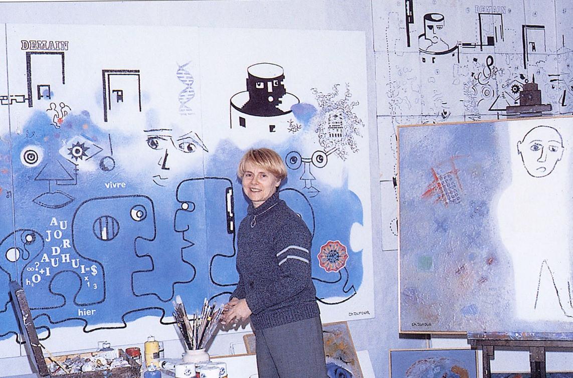 1996, photo publiée dans Portraits d'art