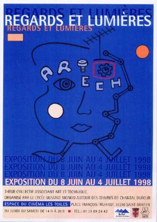 """Affiche de l'exposition """"Regards et Lumières"""", 1998"""