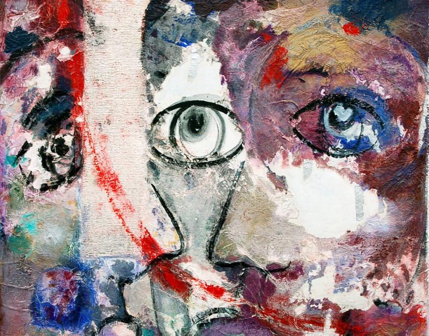 Blessure, 1991, sur toile