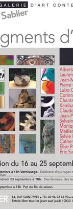 2011, expo Fragments d'été, panel d'artistes de la galerie