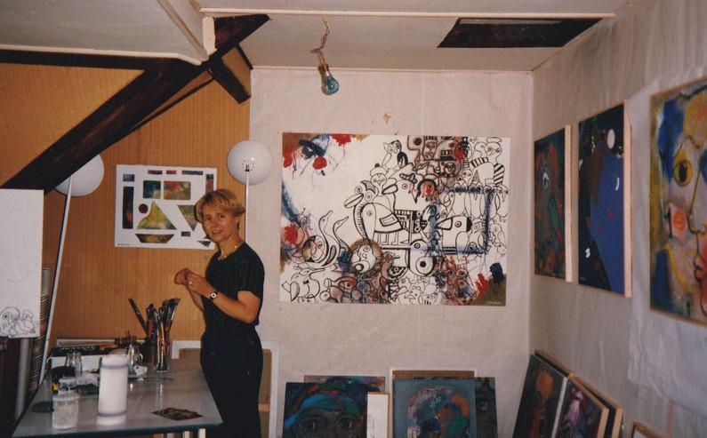 1994, atelier chez Etienne à Ermont (95)