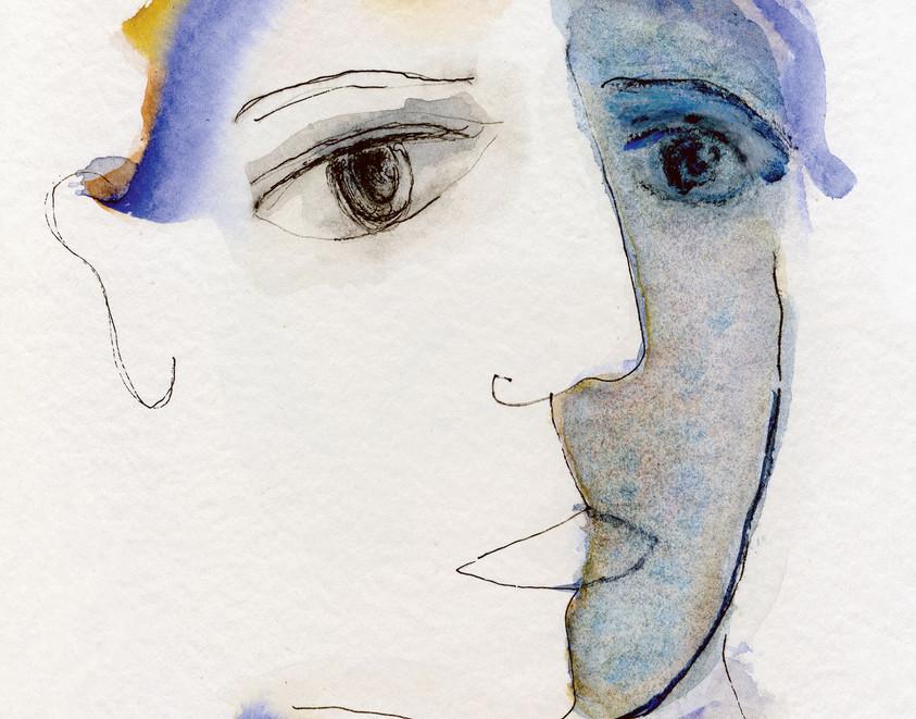 Dualité, 1993, sur papier