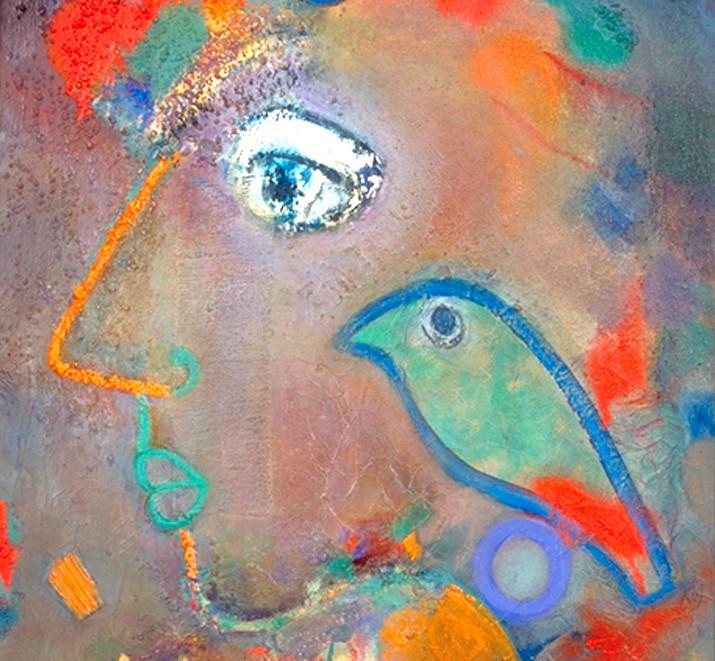 L'oiseau vert, 1994, sur toile