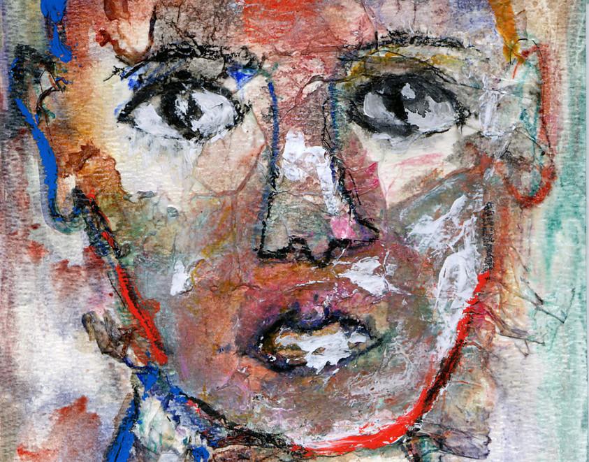 L'enfant du Fayoum, 1997, sur papier