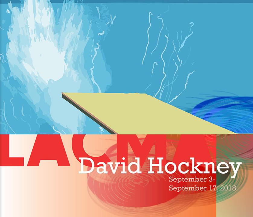 David Hockney Exhibit Poster