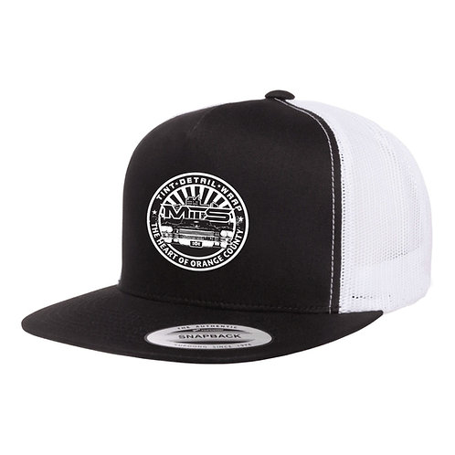 MTS Circle Black/White Trucker Hat